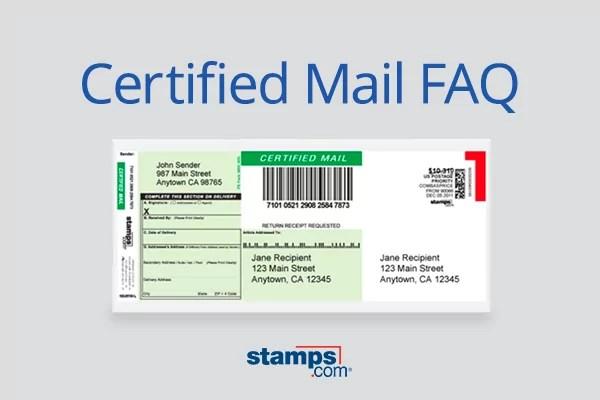 Usps Certified Mail Faq Stamps Com Blog