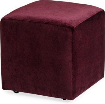 Audrey Cube Velvet Ottoman