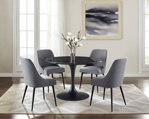 Colfax Round Marble Dining Table