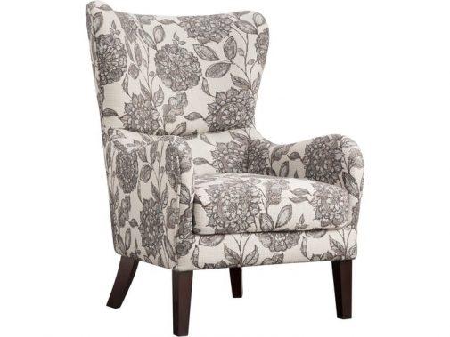 Sasha Floral Print Wing Chair