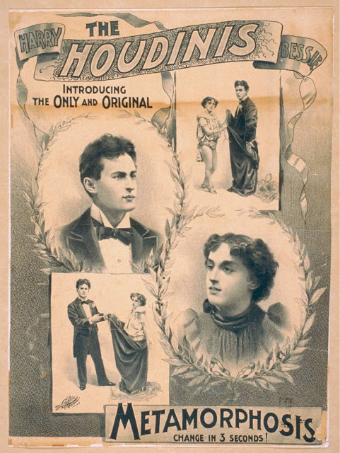vintage art - harry houdini metamorphosis