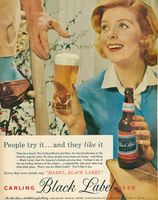 Vintage Beer Labels And Advertisements Before The