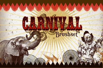 carnival brush, circus brushes photoshop, photoshop circus, download free brushes for photoshop, free download brush for photoshop