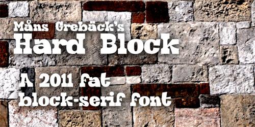 block font, block serif font, wood type, wood type font