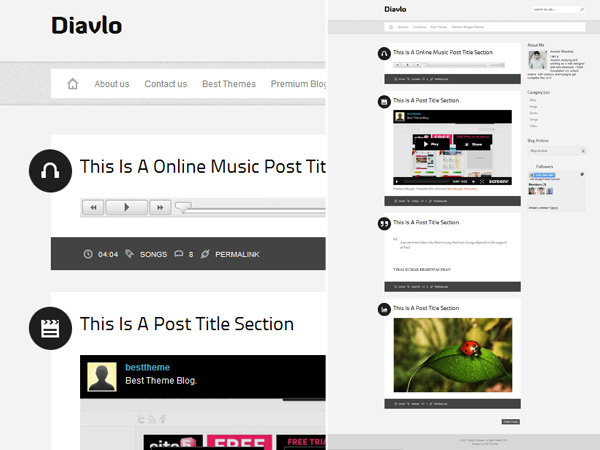 Gorgeous free blogger templates for building a professional web free clean minimal tumblr style blogspot template maxwellsz