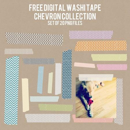 Free Chevron Pattern Washi Tape