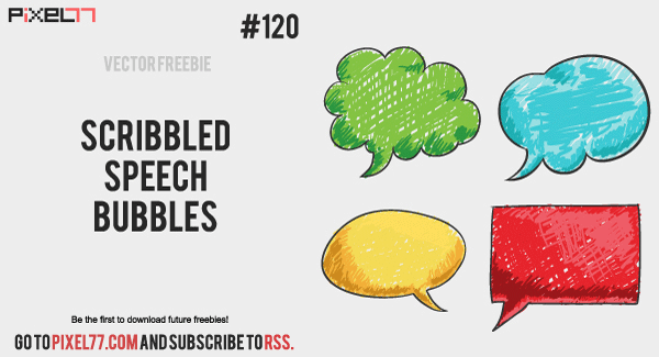 Free Vector Speech Bubbles, Doodle speech bubbles, scribbled vector bubbles