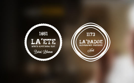 Free Retro Badges PSD