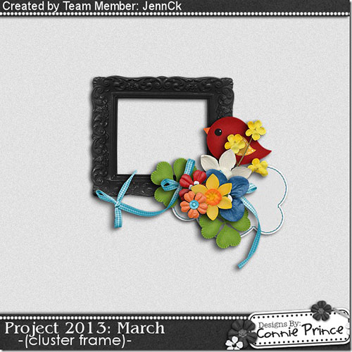 free digital scrapbooking cluster