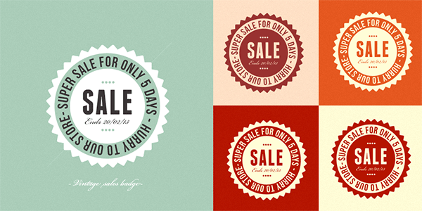 retro badges, free psd, free retro badges psd, seal psd,