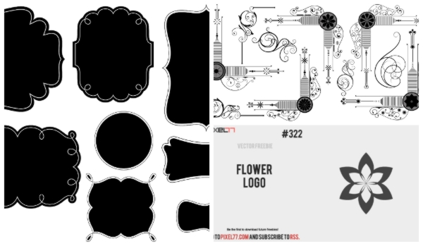 border frames, vector borders, label frames, vintage style label design,