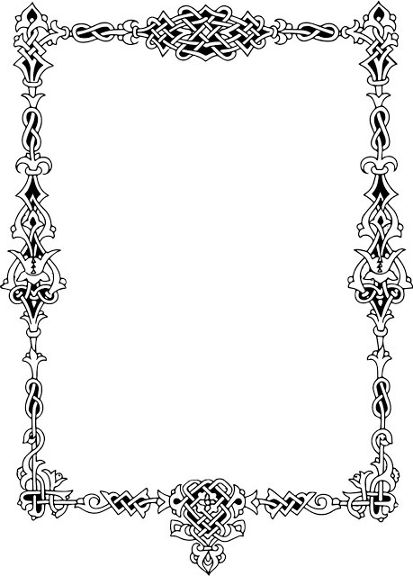 celtic border, knotwork border, knot work border, ornate border, celtic