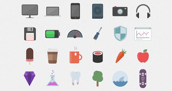 flat ui design, flat ui, skeuomorphism, free icons, coffee icons