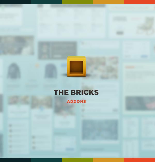 flat design, flat ui, the bricks ui, web design