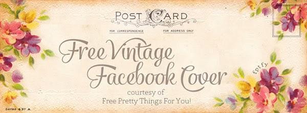free facebook cover, floral, florals, vintage, facebook, cover