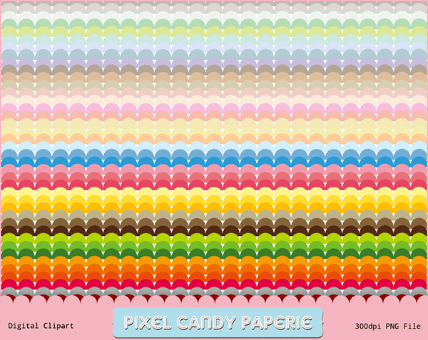 scalloped borders, rainbow borders, free clip art, digital clip art
