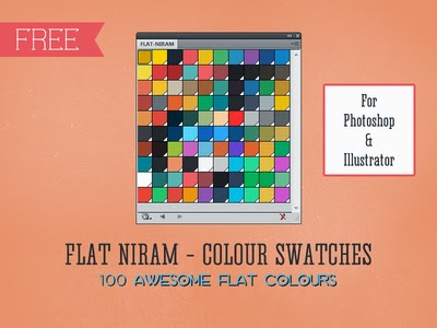 free design swatches, free flat design swatches, illustrator swatches, photoshop swatches,