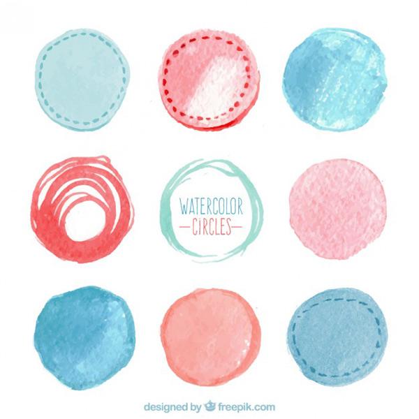 Vector Art Stock - Watercolor Circles