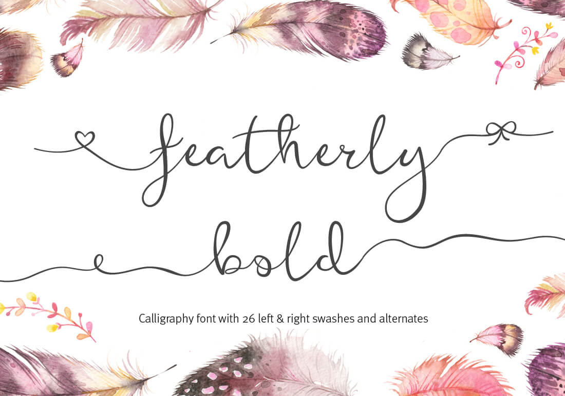 featherly bold
