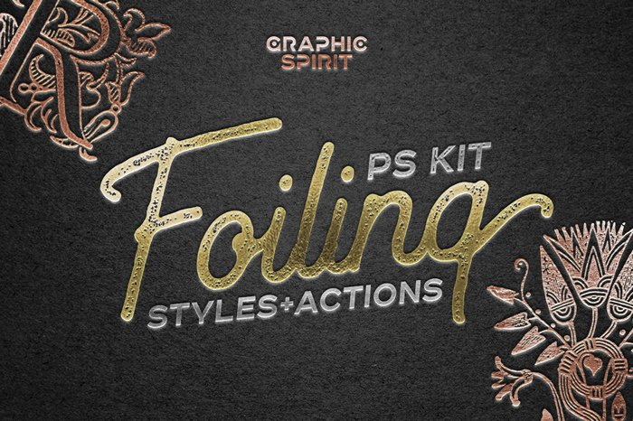 Gold, Silver and Copper Foiling Kit for Photoshop