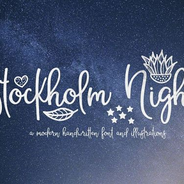 0009_Stockholm_Night_Hand_Drawn_Brush_Font