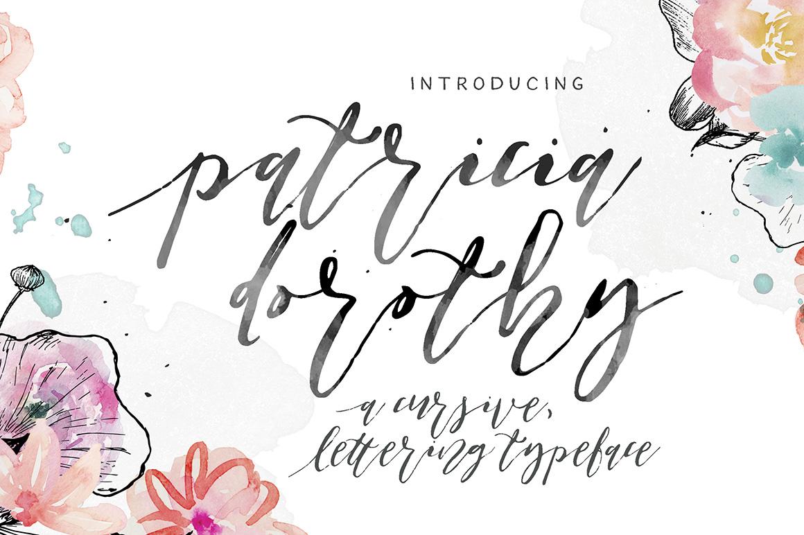 002_Patricia_Dorothy_Cursive_Lettering_Typeface
