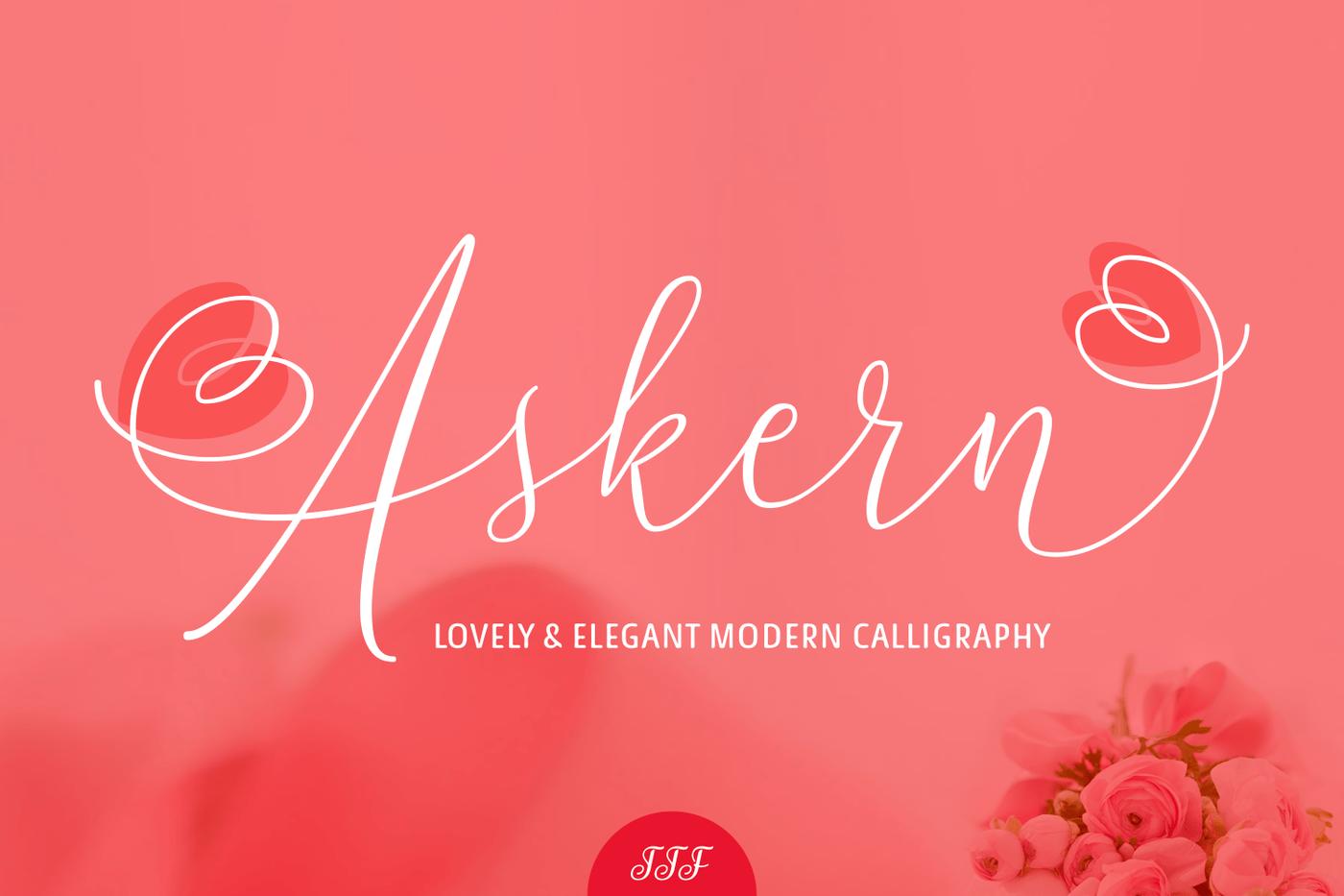 013_Askern_Beautiful_Brush_Script_Hand_Drawn_Font