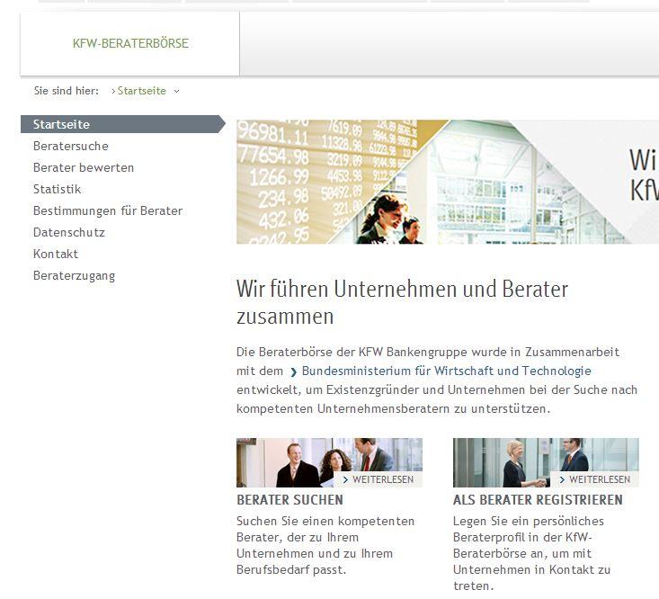 KfW-Beraterbörse