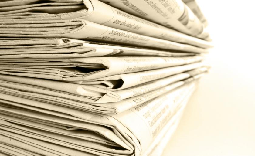 Zeitungsanzeige