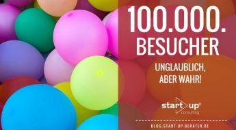 100.000. Blog Besucher bei start!up consulting