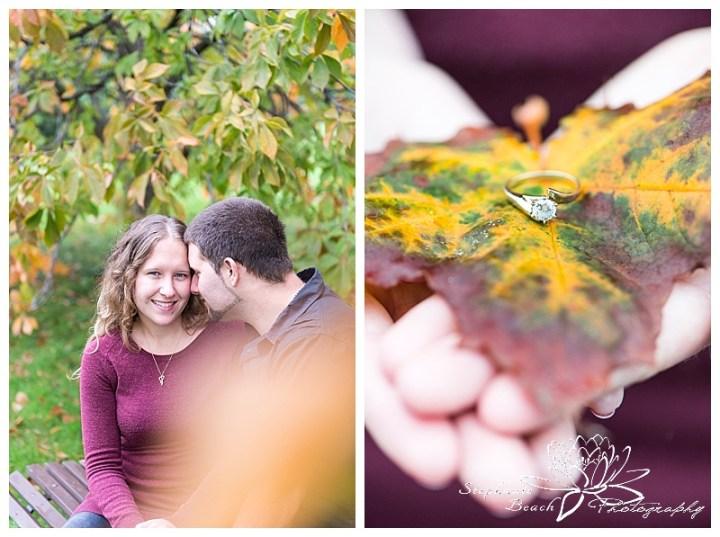 Experimental-Farm-Engagement-Session-Stephanie-Beach-Photography-Engaged-Ottawa-Couple-Ornamental-Gardens-greenhouse-ring-fall-leaves