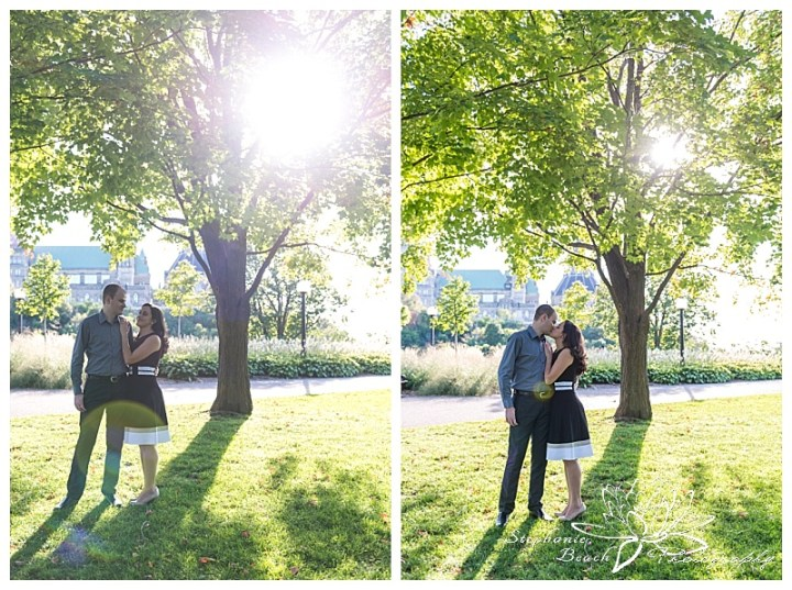 Major-hill-park-engagement-session-tree-sunlight-sunflare-ottawa-stephanie-beach-photography