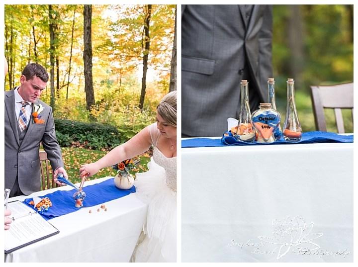 temple's-sugar-bush-fall-wedding-stephanie-beach-photography-ceremony-bride-groom-sand