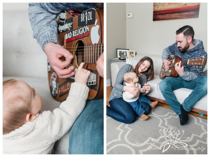 Ottawa-Family-Photographer-Stephanie-Beach-Photography-indoor-session-baby-guitar-music