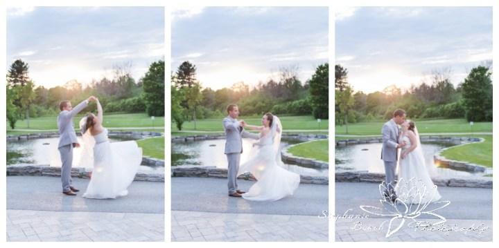 Gatineau-Golf-Club-Wedding-Stephanie-Beach-Photography-sunset-twirl-bride-groom