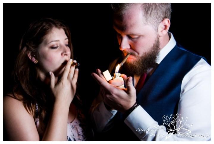 Strathmere-Inn-DIY-Wedding-Stephanie-Beach-Photography-night-cigar-bride-groom