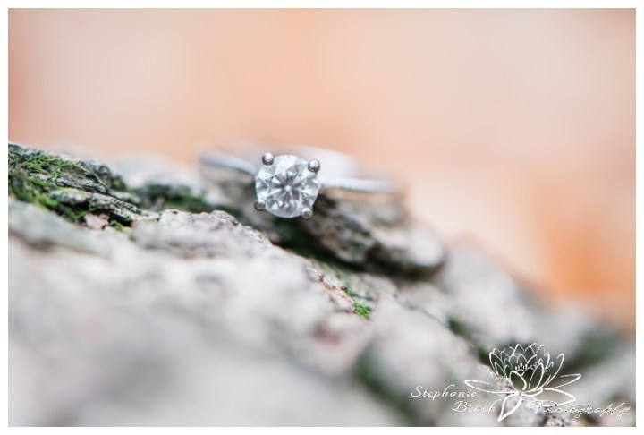 Jack-Pine-Trail-Engagement-Session-Stephanie-Beach-Photography-ring-tree-trunk-fall
