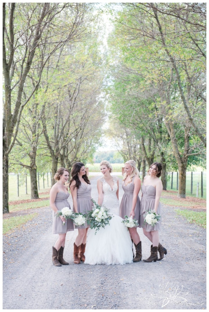 Stanleys-Olde-Maple-Lane-Farm-Wedding-Stephanie-Beach-Photography-bride-bridesmaids-laneway