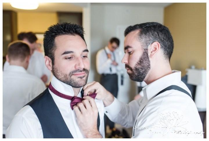 Strathmere-Lodge-Wedding-Stephanie-Beach-Photography-prep-groom-groomsmen-bowtie