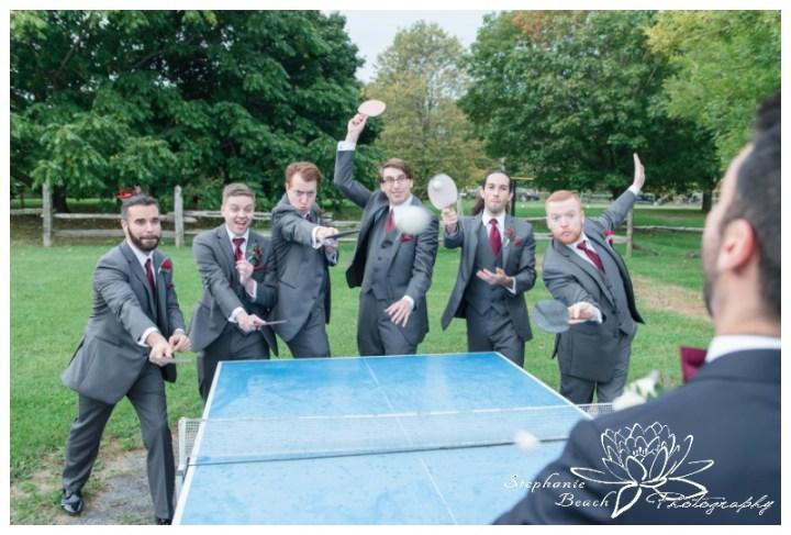 Strathmere-Lodge-Wedding-Stephanie-Beach-Photography-groom-groomsmen-ping-pong-portrait