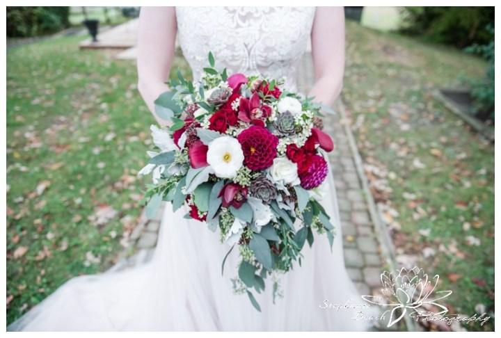 Strathmere-Lodge-Wedding-Stephanie-Beach-Photography-bride-dress-bouquet-portrait