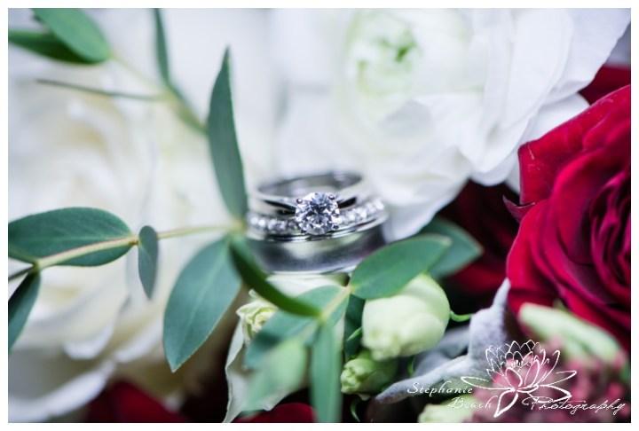 Strathmere-Lodge-Wedding-Stephanie-Beach-Photography-ring-shot-flowers