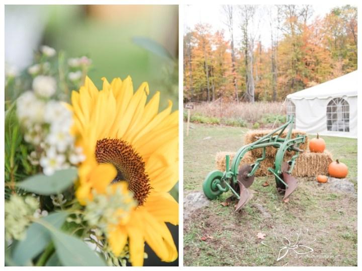 Ottawa-Fall-Backyard-Wedding-Stephanie-Beach-Photography-sunflower-bouquet-decor