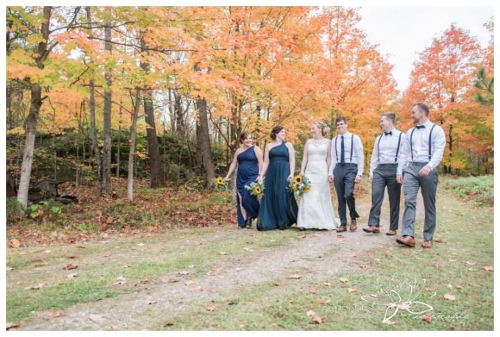 Ottawa-Fall-Backyard-Wedding-Stephanie-Beach-Photography-bridesmaids-groomsmen-sunflower-bouquet