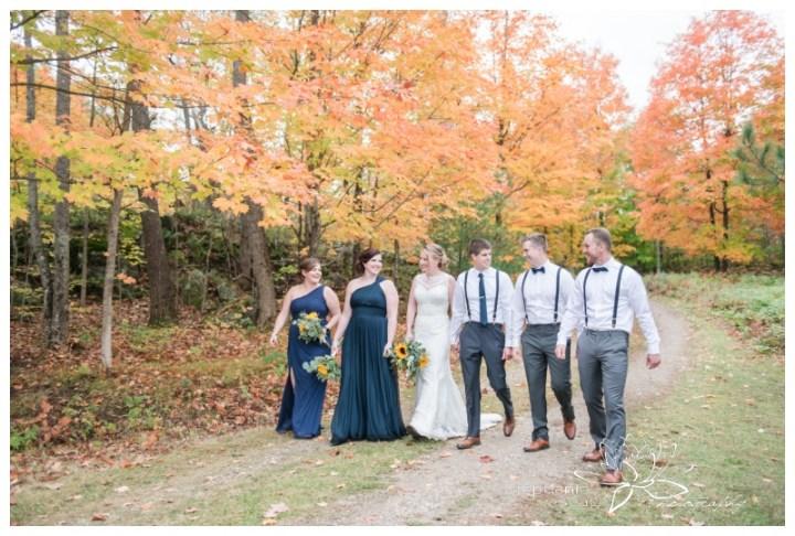 Ottawa-Fall-Backyard-Wedding-Stephanie-Beach-Photography-bridesmaids-groomsmen-sunflwoer-bouquet