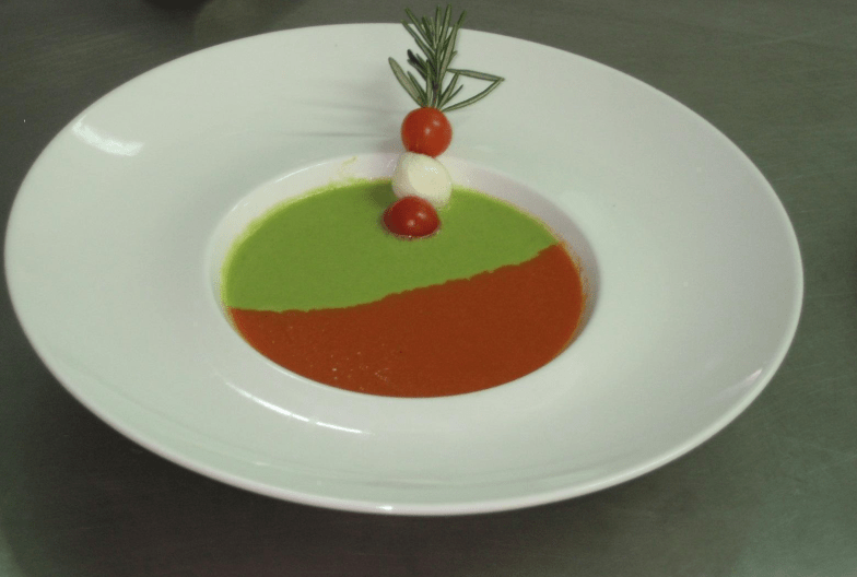 Dual Soup Hot and Cold-Tomato and Asparagus