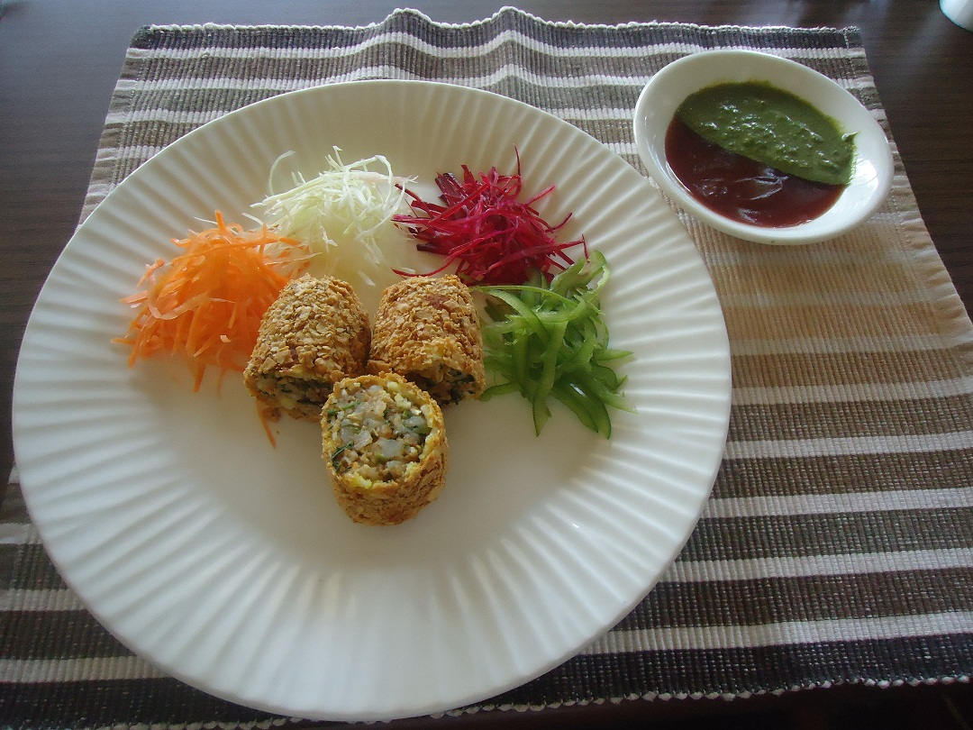 Image Name - paneer papad roll recipes