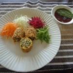 Crunchy Papad Paneer Rolls