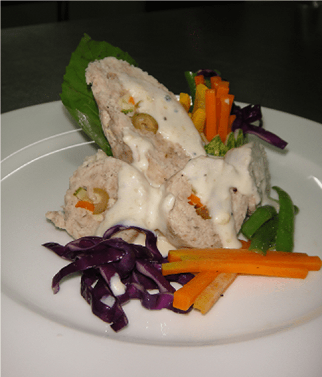 Turkey Roulade with Herbed Cheese Sauce Recipe