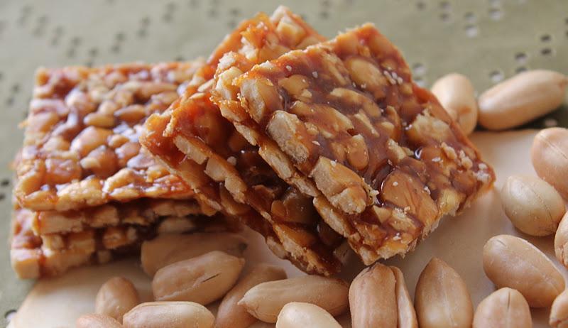 Chikki Jaggery Peanut Dessert Recipe